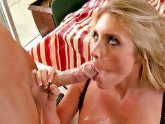 Samantha Saint getting all the sticky substance of dick