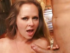 Dyanna Lauren hottie cougar get the nut off on her tits