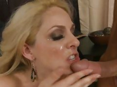 Angela Attison got blown with a load of warm cum