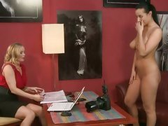Hopeful Carmen Croft strips for her interview