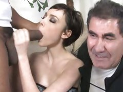 Zoe Voss kneel at the altar of a hot guy's hard cock