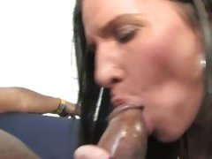 Kendra Secrets lusty mom sucking a big black dick