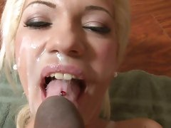 Bibi Noel lusty babe filled on face with warm cum