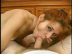 Redhead Sarah sucking good