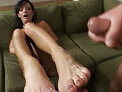 Big boobs and feet cummed