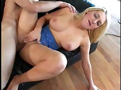 Big titted blonde fucked by old lecher