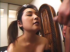 Japanese maid has to pee and fuck