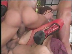 Rough gangbang fun