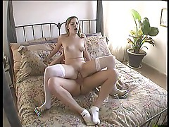 Teengirl humping in bed