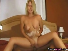 Blond riding chick