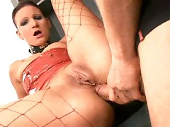 Cheap bitch nailed in the ass