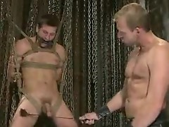 Boy bondmand in dungeon and shagged