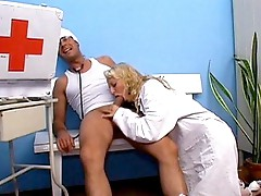 Nurse Rianna throat fucked