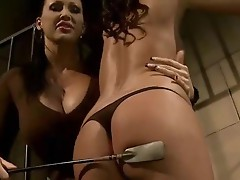 Mandy Bright dominating hot brunette