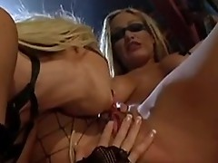 Muff loving Nikki Benz enjoys her girlfriend's cum-holes wide opened just for her
