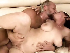 Two grandpas fucking pissing onto sexy nymph