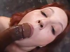 Angel gets to relax & Enjoy some good dark shlong in her Mouth