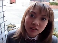 Spicy asian student sucking cock