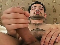 Hot Franky jerking off his hard straight