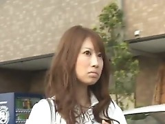 Frustrated Japanese lady has the hairy