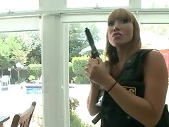 Police chicks Ava Devine and Sara Jay get punished