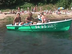 Chick dual fucked while boat trip