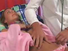 Hot chick fucks her Doctor
