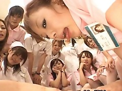Asian nurses enjoy xxx on top