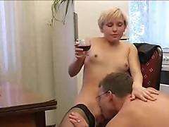 Eating boozed pussy