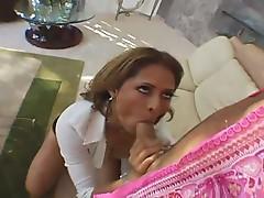 Monique Fuentes sucking and fucking the hard sausage