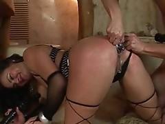 Sensuous pierced pussy MILF sucking