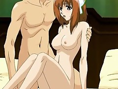 Succulent anime porn chick has her pink pussy fucked over and over
