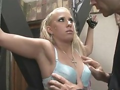 Bawdy wild Tarra White gets an explosion of cum trickling allover her face