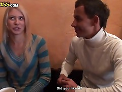 Young amateur blonde Iry picked up for sex in public