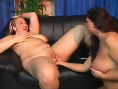 Chunky Blonde Fingers and Toys Brunette