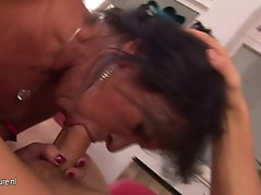 This anal loving mature female has the hot surprise