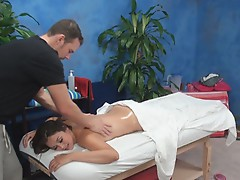 Allie lured and fucked by her massage therapist onto hidden camera
