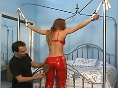 Curly muff gets clamped
