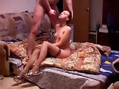 Rammed blonde babe with shaked boobs
