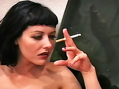 Girl-on-girl smoking