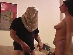 Mighty femdom dildoing a fellows ass hard