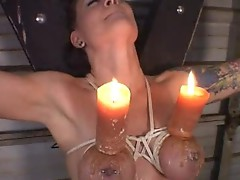 Sexy bdsm tit torture