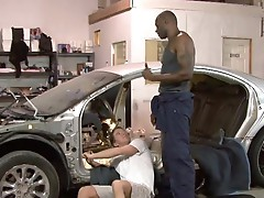 Strong ebony thug Diesel Washington fucks Tucker Vaughn