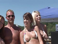 Hot Babes Party Hard While Exposing Tits