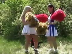 Two nice cheerleaders bang every other