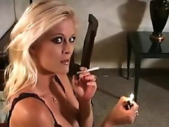 Smoking Blonde Brooke