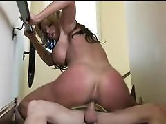 Lusty undressed Honey Nikki Sexxx slamming her love hole on a big pocket rocket till she spunks