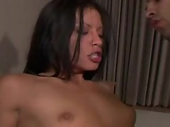 Crazy sexy bitch Jayna Oso deserves the blast of cum she gets on her face