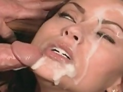 Sperm paRAmour Nikita Denise acquires the hot explosion of cum on her immodest fAce
