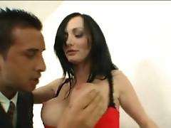 Truly hot secretary doing cumshot to boss here